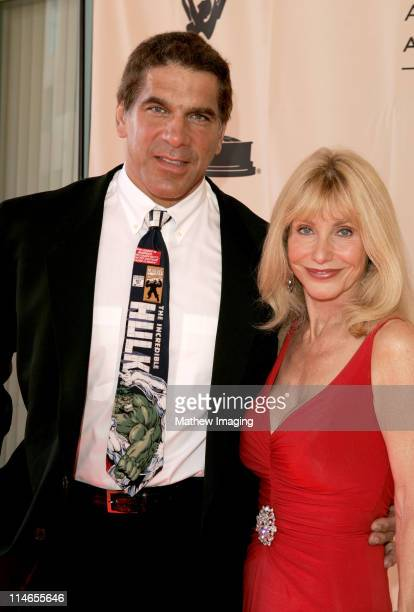 Lou Ferrigno and Carla Ferrigno during 57th Annual Los Angeles Area Emmy Awards Arrivals Reception at Leonard H Goldenson Theatre in North Hollywood...