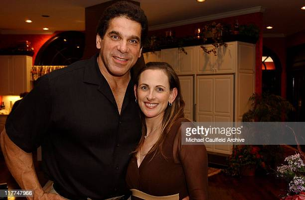 Lou Ferrigno and Marlee Matlin during Starkey Hearing Foundation Hosts An Evening by the Lake at Private Residence in Eden Parie Minnesota United...