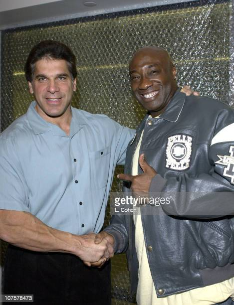 """Lou Ferrigno and Michael Clarke Duncan during HP and The Hollywood Reporter Celebrate """"The Future Through TV & Film"""" - Arrivals and Party at Astra..."""