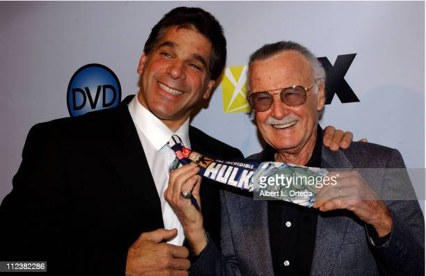 Lou Ferrigno and Stan Lee during The 3rd Annual DVD Exclusive Awards at The Wiltern Theater LG in Los Angeles, California, United States.