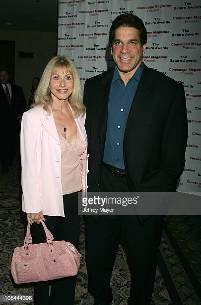 Lou Ferrigno and wife Carla during The 30th Annual Saturn Awards - Arrivals at Sheraton Universal Hotel in Universal City, California, United States.
