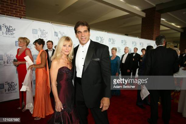 """Lou Ferrigno and wife Carla Ferrigno during Starkey Hearing Foundation's 2006 """"So the World May Hear"""" Awards Gala at RiverCentre in St Paul Minnesota..."""