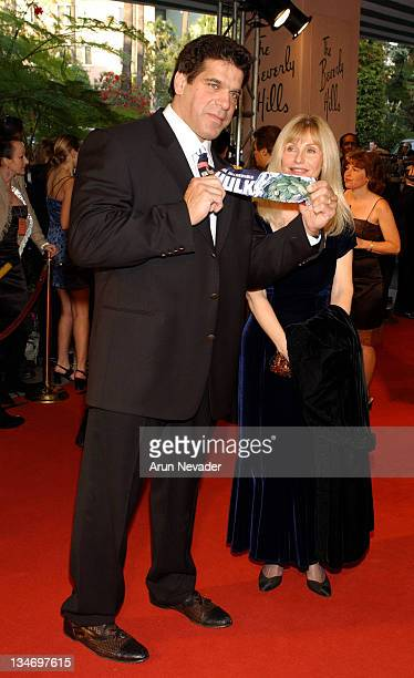 Lou Ferrigno and wife Carla Ferrigno during The 12th Annual Night of 100 Stars Gala at Beverly Hills Hotel in Beverly Hills California United States