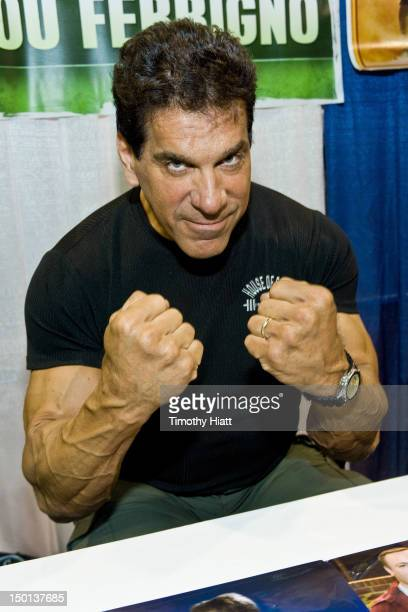 Lou Ferrigno attends Wizard World Chicago Comic Con 2012 at Donald E Stephens Convention Center on August 10 2012 in Rosemont Illinois