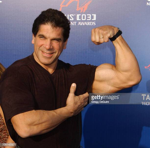 Lou Ferrigno during The 3rd Annual World Stunt Awards Arrivals at Paramount Studios in Los Angeles California United States