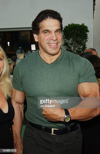 """Lou Ferrigno during The World Premiere Of """"The Hulk"""" at Universal Amphitheatre in Universal City, California, United States."""