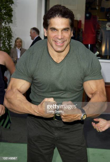 Lou Ferrigno during World Premiere Of The Hulk Hollywood at Universal Amphitheatre in Universal City California United States
