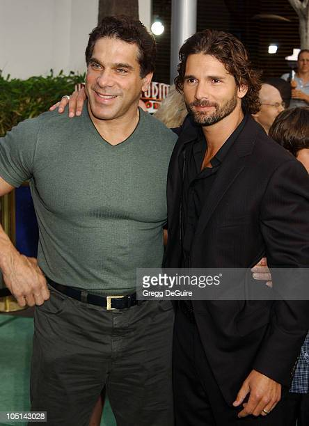 Lou Ferrigno Eric Bana during World Premiere Of The Hulk Hollywood at Universal Amphitheatre in Universal City California United States