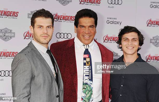 Lou Ferrigno Jr actor Lou Ferrigno and Brent Ferrigno arrive at the Marvel's 'Avengers Age Of Ultron' Los Angeles Premiere at Dolby Theatre on April...