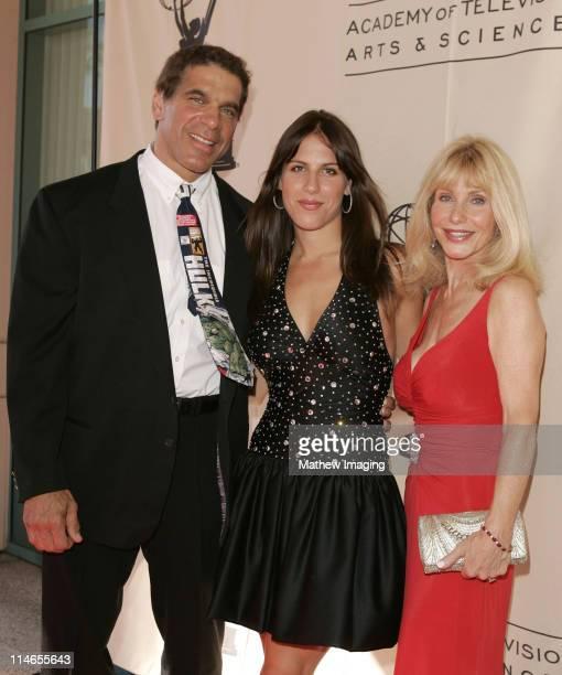Lou Ferrigno Shanna Ferrigno and Carla Ferrigno during 57th Annual Los Angeles Area Emmy Awards Arrivals Reception at Leonard H Goldenson Theatre in...