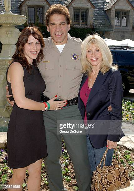 Lou Ferrigno wife and daughter during 2006 Safari Brunch Fundraiser For The Wildlife Waystatiion at Playboy Mansion in Los Angeles California United...