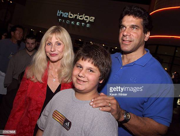 Lou Ferrigno wife Carla and son Brent at the premiere of Extreme Days at The Bridge Theater in Los Angeles Ca 9/24/01 Photo by Kevin Winter/Getty...