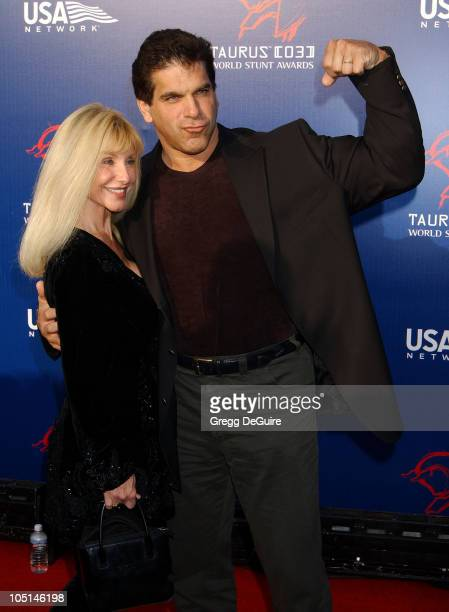 Lou Ferrigno & Wife Carla during The 3rd Annual World Stunt Awards - Arrivals at Paramount Studios in Los Angeles, California, United States.