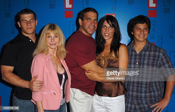 Lou Ferrigno with wife Carla daughter Shanna and family