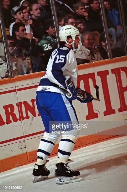 Lou Franceschetti of the Toronto Maple Leafs skates against the Winnipeg Jets during NHL game action on March 17 1990 at Air Canada Centre in Toronto...
