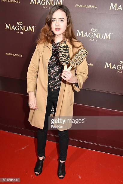 Lou Gala attends Magnum Paris Concept Store Rue des Rosiers Opening Party on April 14 2015 in Paris France
