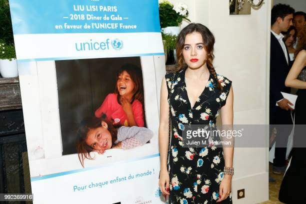 Lou Gala attends the Liu Lisi Charity Gala Dinner with Unicef at Hotel Plaza Athenee on July 5 2018 in Paris France