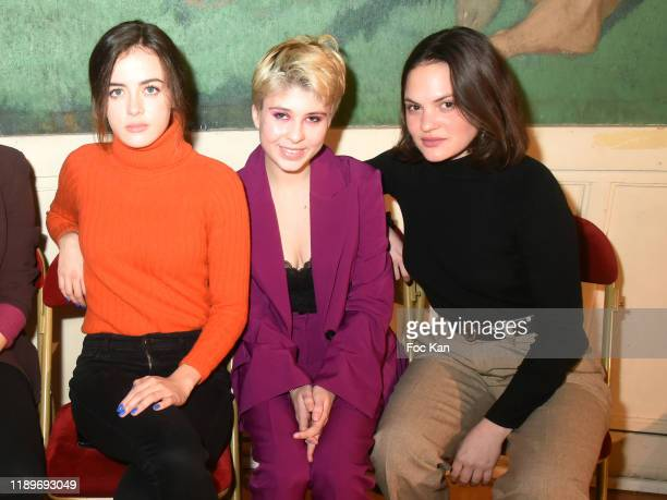 Lou Gala model Lea Furic and actress Clémence Boisnard attend the Poesie En Liberté 2019 Awards Ceremony At Mairie Du 5eme on November 23 2019 in...
