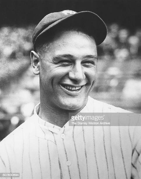 Lou Gehrig, # 4 of the New York Yankees, poses for a portrait, circa 1932.