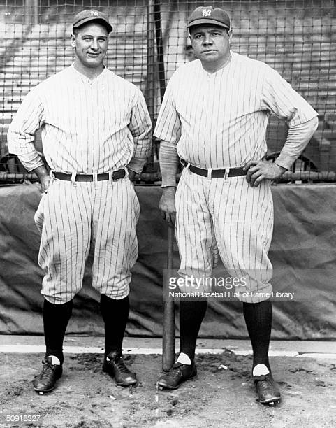 Lou Gehrig and Babe Ruth of the New York Yankees pose for a photo circa 19231939 Lou Gehrig played for the Yankees from 19231939 George Herman 'Babe'...