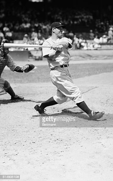 Lou Gehrig, baseball's iron man, who will cover first base and swing his big bat for the New York Yankees in the 1937 World Series.