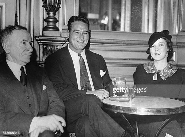 Lou Gehrig big shot in American baseball accompanied by Mrs Gehrig are pictured in their Paris hotel Gehrig was returning home in easy stages after...