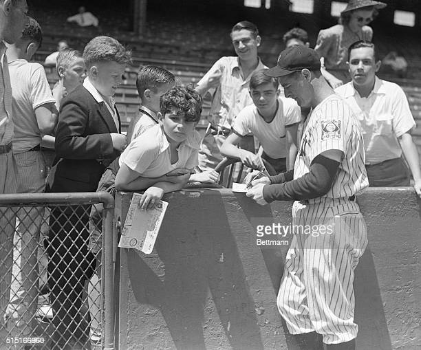 Lou Gehrig despite the fact that he is suffering from a rare form of paralysis which has apparently ended his playing career is still a hero to these...