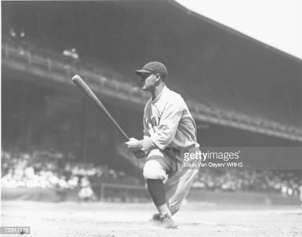 Lou Gehrig follows through, Indians vs. Yankees League Park