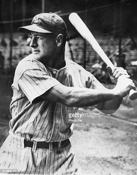 Lou Gehrig of the New York Yankees stands ready at the plate during a game circa 19231939