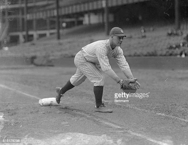 Lou Gehrig Playing First Base