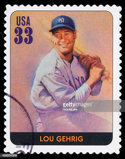 USA Lou Gehrig postage stamp
