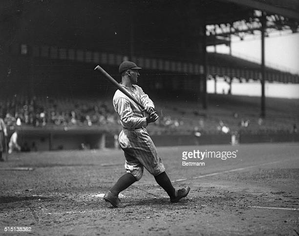 Lou Gehrig Swinging at the Plate
