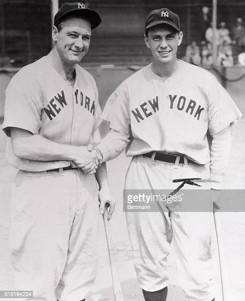Lou Gehrig voluntarily laid down his bat today and ended his long continuous reign over the initial sack Lou after playing 2130 consecutive games...
