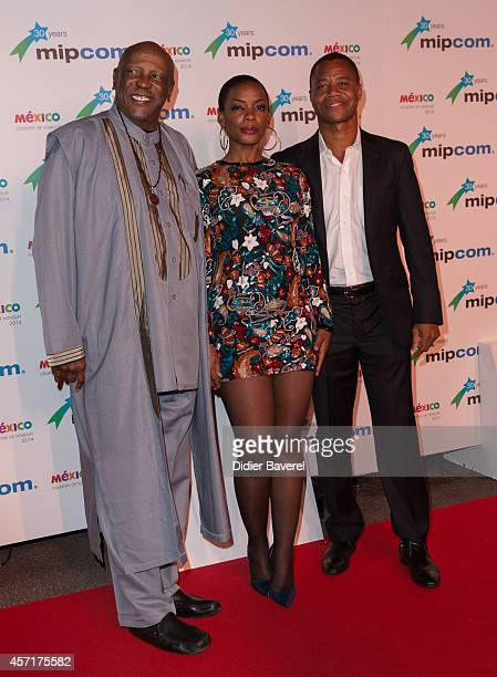 Lou Gossett, Aunjanue Ellis and Cuba Gooding Jr attend the opening red carpet party MIPCOM 2014 at Hotel Martinez on October 13, 2014 in Cannes,...