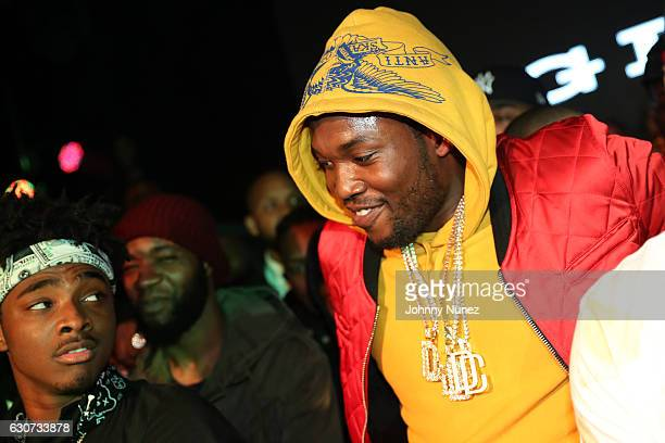 Lou Got Cash and Meek Mill attend the New Year's Eve Preparty With Meek Mill on December 30 2016 in New York City
