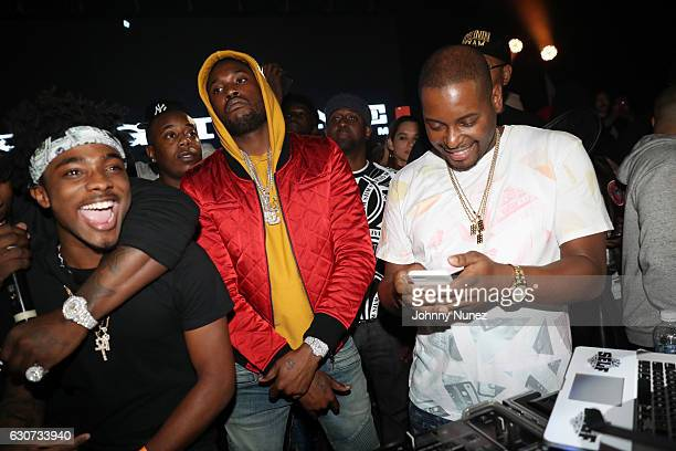 Lou Got Cash Meek Mill and DJ Self attend the New Year's Eve Preparty With Meek Mill on December 30 2016 in New York City