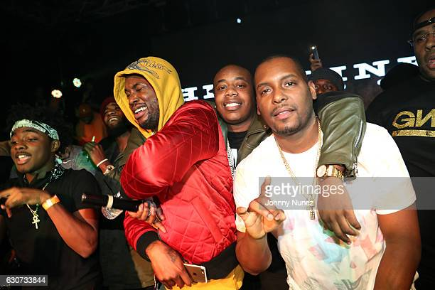 Lou Got Cash Meek Mill Trav and DJ Self attend the New Year's Eve Preparty With Meek Mill on December 30 2016 in New York City