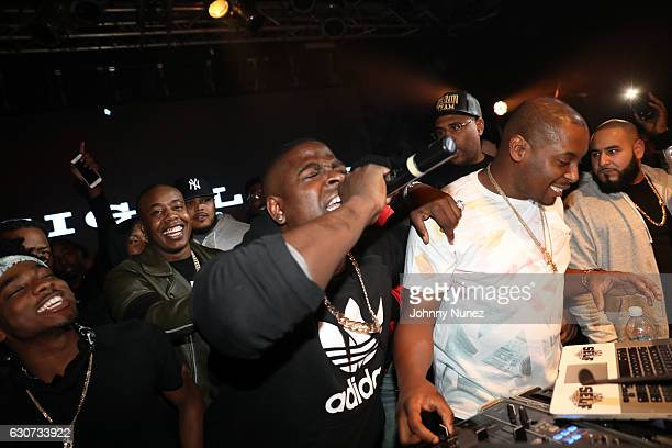 Lou Got Cash Trav Casanova and DJ Self attend the New Year's Eve Preparty With Meek Mill on December 30 2016 in New York City