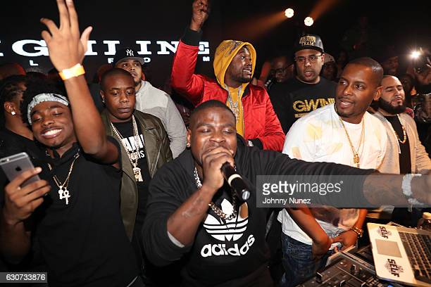 Lou Got Cash Trav Casanova Meek Mill and DJ Self attend the New Year's Eve Preparty With Meek Mill on December 30 2016 in New York City