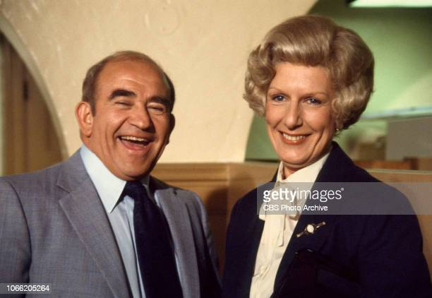 Lou Grant a CBS television drama about life at the Los Angeles Tribune newspaper Pictured from left is Edward Asner Nancy Marchand January 1 1978