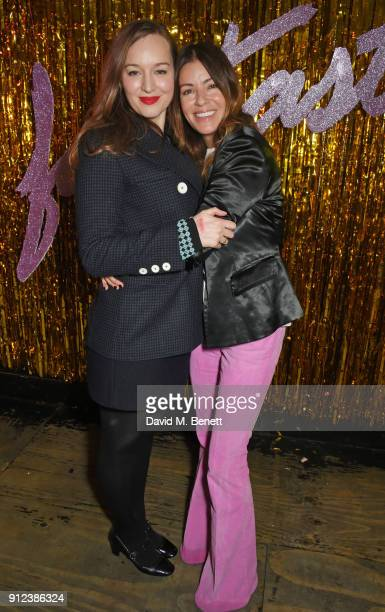 Lou Hayter and Sara Macdonald attend the ALEXACHUNG Fantastic collection party on January 30 2018 in London England