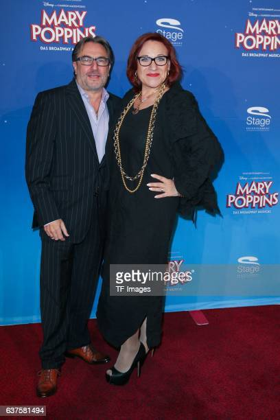 Lou Hoffner and Gerhard Steinle attend the red carpet at the premiere of the Mary Poppins musical at Stage Apollo Theater on October 23 2016 in...
