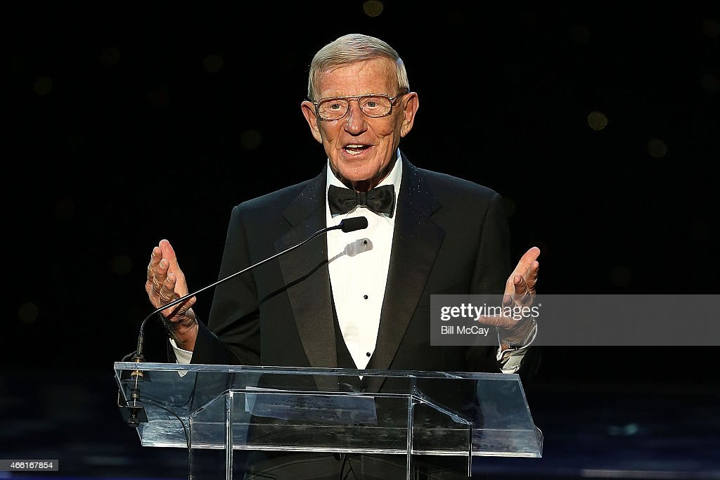 Lou Holtz winner of the Reds Bagnell Award for contribution to the game of Football attends the 78th Annual Maxwell Football Club Awards Gala at the Tropicana Casino March 13, 2015 in Atlantic City, New Jersey.