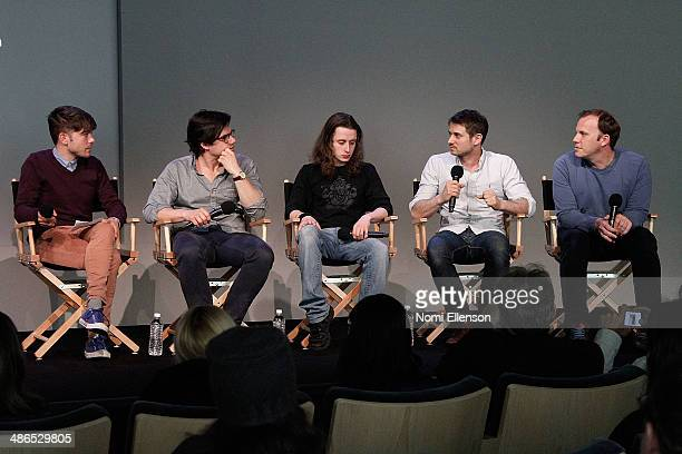 Lou Howe Rory Culkin Ben Howe Luca Borghese attend Apple Store Soho Presents Tribeca Film Festival 'Gabriel' at Apple Store Soho on April 24 2014 in...