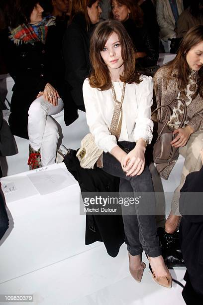 Lou Lesage attends during the Chloe Ready to Wear Autumn/Winter 2011/2012 show during Paris Fashion Week at Espace Ephemere Tuileries on March 7 2011...