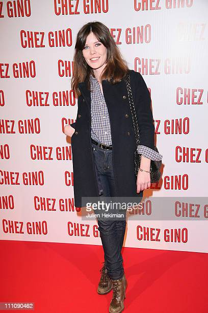 Lou Lesage attends the 'Chez Gino' Paris premiere at Cinema Gaumont Opera on March 29 2011 in Paris France