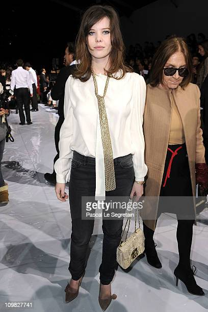 Lou Lesage attends the Chloe Ready to Wear Autumn/Winter 2011/2012 show during Paris Fashion Week at Espace Ephemere Tuileries on March 7 2011 in...