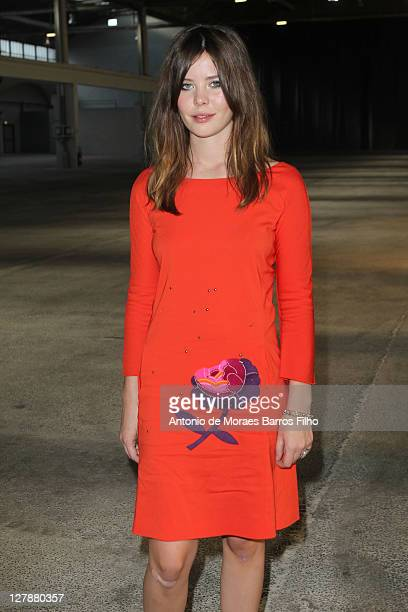 Lou Lesage attends the Sonia Rykiel Ready to Wear Spring / Summer 2012 show during Paris Fashion Week at Halle Freyssinet on October 1, 2011 in...