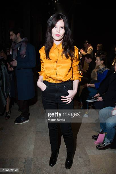 Lou Lesage attends the Vivienne Westwood show as part of the Paris Fashion Week Womenswear Fall/Winter 2016/2017 on March 5 2016 in Paris France