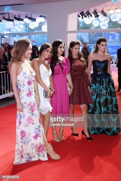Lou Luttiau, Mel Einda El Asfour, Hafsia Herzi, Ophelie Bau and Alexia Chardard walks the red carpet ahead of the 'Mektoub, My Love: Canto Uno'...